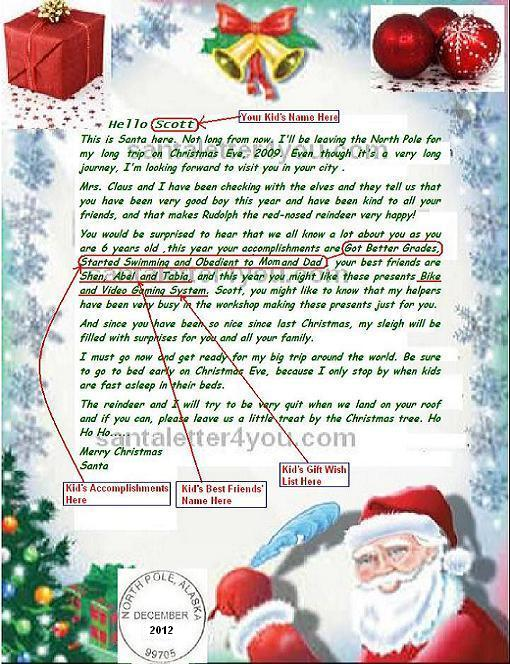 Write  Email Santa Claus Free Letters from Santa Claus Free