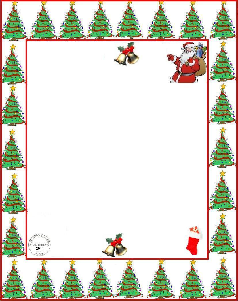 now select the letter layout stamp for recieving the santas response